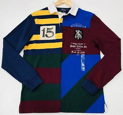 2c11c4d47 ... best price ralph lauren rugby shirt custom slim fit stripes and vintage  inspired patches b47d3 2faa1