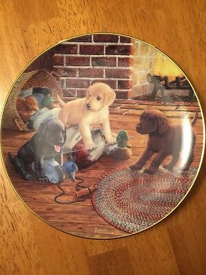 "Danbury Mint 8"" Collector Plate, ""Fowl Play"""