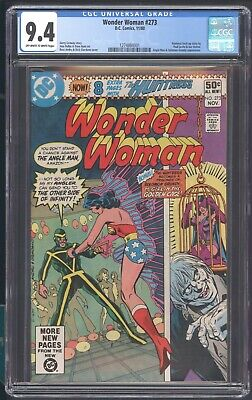 Wonder Woman 273 Cgc 9.4 by Gerry Conway app Angle Man & Solomon Grundy