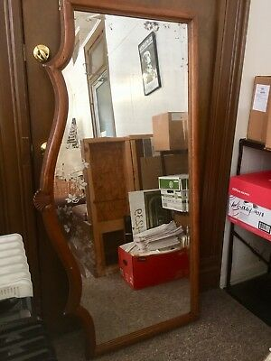 1940s Antique Buffet Wall Mirror English Classic 5ftx3ft Dining Living Room Rare