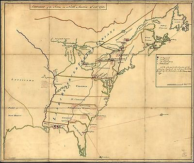 12x18 inch Reprint of American Military Map American Indian