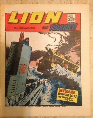LION AND THUNDER UK COMIC. 10th February 1973. FREE UK POSTAGE.