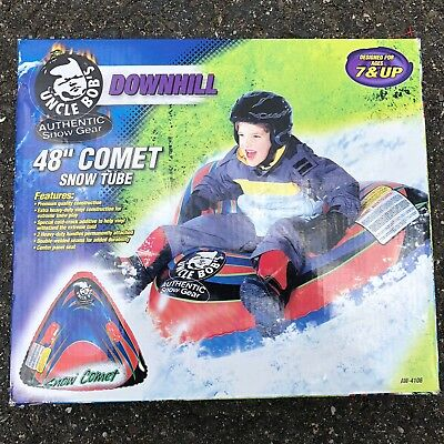 "Uncle Bobs 48"" Comet Snow Tube Sled Heavy Duty Vinyl AW-4106 Aqua Leisure"