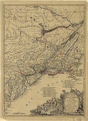 12x18 inch Reprint of American Military Map Great Lakes
