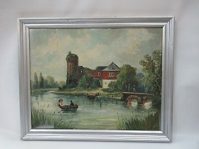 Original Vintage Listed Artist H Recker Signed Painting In Very Good Condition!!