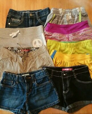 9 PAIR Girls SHORTS▪Size 7/8 ▪Small▪Shorts Lot▪Different Brands