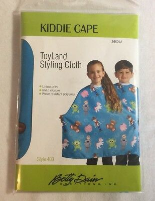 Kiddie Cape Hair Styling Cloth TOYLAND Betty Dain Unisex Snap Water Resistant
