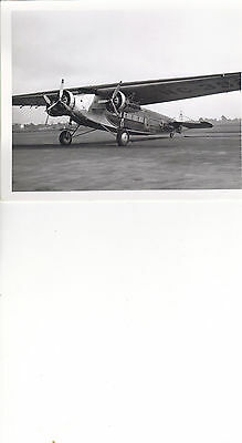 VINTAGE PHOTO FOKKER TRI-MOTOR ,TRANS-CONTINENTAL WESTERN AIR,OAKLAND ,CA 5x7