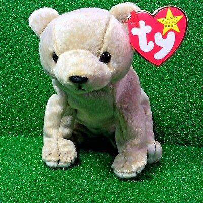 Ty Beanie Baby Almond The Bear Retired 1999 Plush Toy