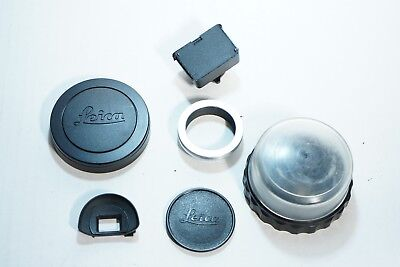 Lot of Random Leica Accessories R Cap Bubble Case Screw to M Adapter