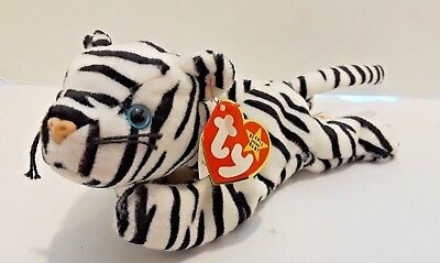 Ty Beanie Baby Blizzard - MWMT, Cat Tiger 1196 Style 4163
