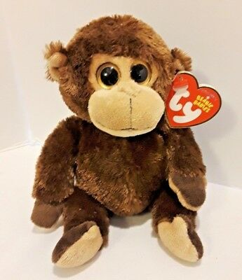TY VINES the MONKEY BEANIE BABY - (LARGE EYES) - MINT with MINT TAGS