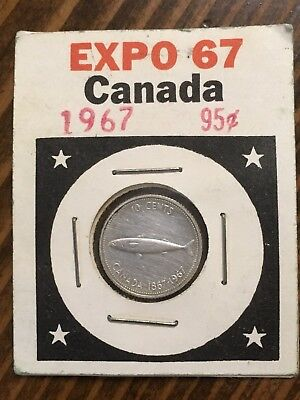 1967 - World Fair - Montreal, Canada - EXPO 67 -  Canadian Dime sealed package