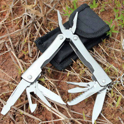 Portable 9 In1 Stainless Steel Multi Kit Plier Outdoor Pocket Mini Camping Kit*`