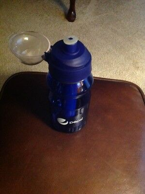 NWOT Rare Pepsi Hard Blue Plastic Water Drinking Bottle With Cooler Gel Inside