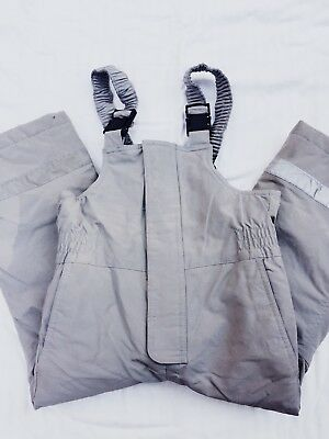 hanna andersson gray snow bibs size 100 (US 4t)