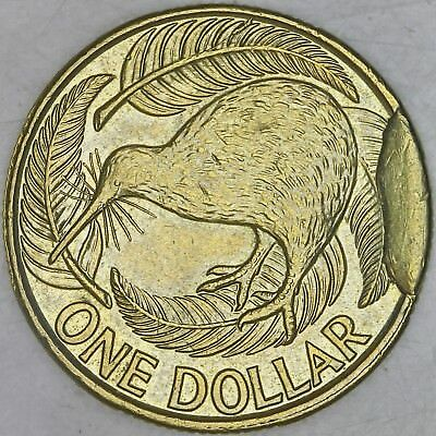 New Zealand 2013 $1 Coin ERROR with Large CUD from Broken DIE