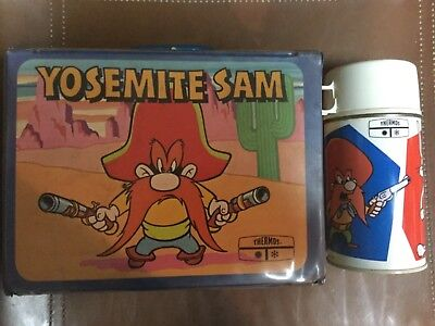 Vintage 1971 Yosemite Sam Bugs Bunny Lunch Box W/themos
