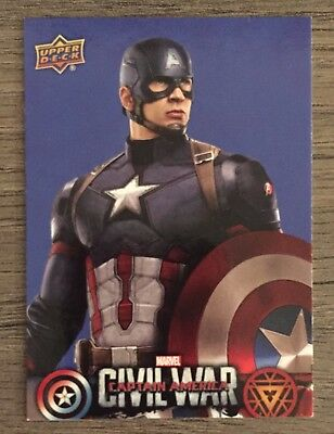 2016 Upper Deck Captain America Civil War Wal-Mart Retail BLUE Set (50 Cards)