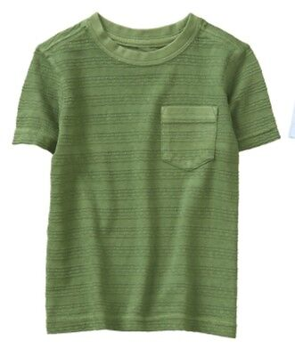 NWT Gymboree Jump into Summer Boys Green Texture Stripe Shirt Size 3t