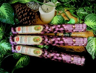 PRECIOUS LAVENDER INCENSE 20 STICKS~Hem Hexagonal Wicca Pagan Aromatherapy
