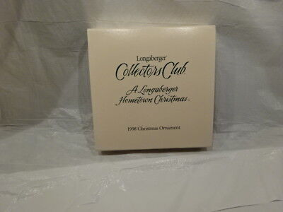 Longaberger Collectors Club 1998 Christmas Ornament New in Box #32506