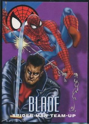 1996 Marvel Vision Trading Card #4 Blade Spider-Man Team-Up