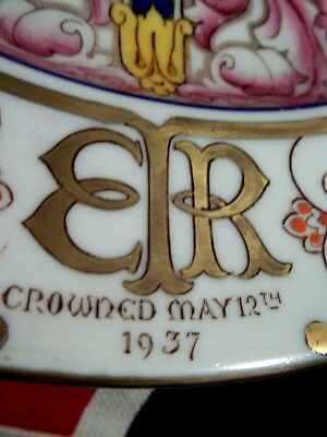 "1937  PARAGON CHINA CORONATION of HM KING EDWARD VIII  10 1/2"" DECORATIVE PLATE"