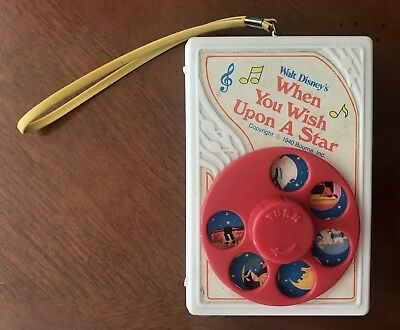 Vintage Walt Disney's When You Wish Upon A Star Wind Up Musical Toy