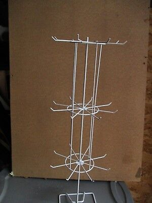Metal Wire Store Display Jewelry Rack Rotating TableTop Quick Assembly Portable