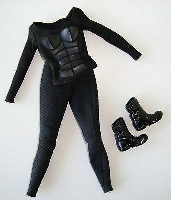 BARBIE Clothes/Fashions Gothic Outfit Black Shirt And Black Pants W/ Boots NEW!
