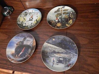 4PC Gnome Collector Plate Set The Four Seasons by Rien Poortvliet
