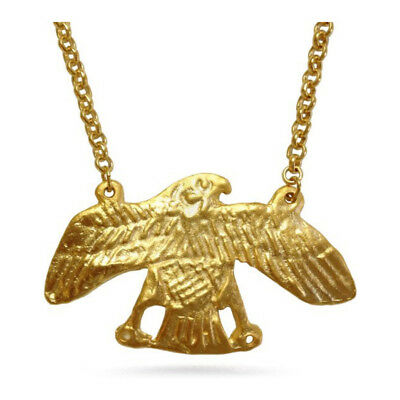 "Large 2.25"" Egyptian Falcon Pendant Chain Necklace, Pricegems Museum Store"