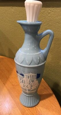 Vintage 1961 Jim Beam Decanter Blue Grecian Design D334 Socrates Plato Aristotle