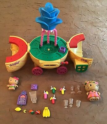 Hello Kitty Retired Tropical Pineapple Juice Bar Play Set Fruit Figures