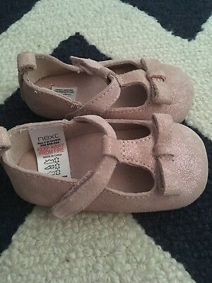 Next Baby Girls Soft Shoes 6-12 Months