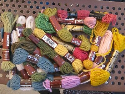 bulk lot EMBROIDERY wool) Thread Floss Skein Yarn dmc assorted 20