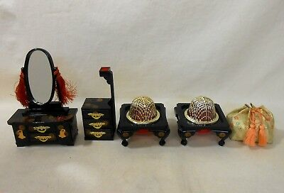 704 Japanese Dressing Table KYODAI & Workbox & Brazier / Ornament for HINA Doll