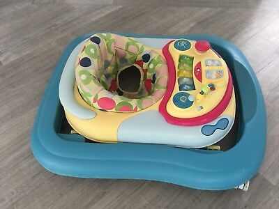 Chicco blue and yellow baby walker.