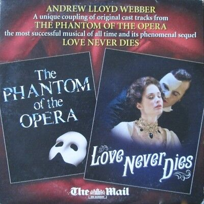 Love Never Dies & Phantom Of The Opera Cd Hits From Musicals Music Of The Night
