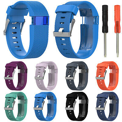 Replacement Pin buckle Silicone Watch Band WristBand Strap For Fitbit Charge HR