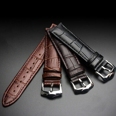 Genuine Leather Pin buckle Vintage Wrist Watch Band Strap 12/14/16/18/20/22/24mm