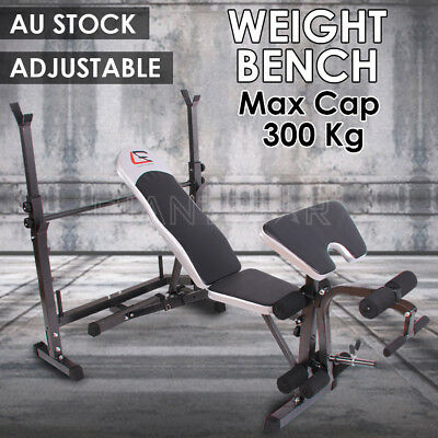 Multi-Station Weight Bench Press Fitness Weights Equipment Incline Curl Home Gym