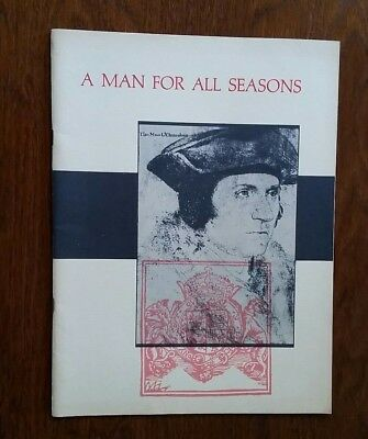 A Man For All Seasons featuring Paul Scofield 1962 Broadway Production Program