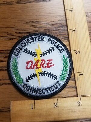 Colchester Connecticut D.A.R.E Patch, Brand New!!
