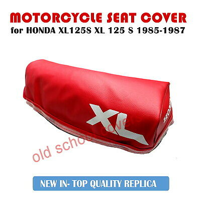 Honda Xl125S Xl 125 S 1985-1987 Red Seat Cover With White Logos Plus Seat Strap