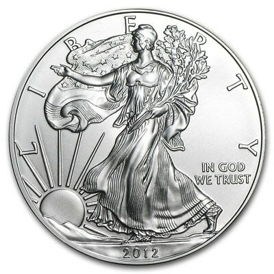 WALKING LIBERTY AMERICAN EAGLE 1oz SILVER 2012 BULLION INVESTMENT COIN #332