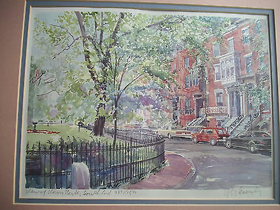 SUPERB!! Signed ROBERT E KENNEDY Litho # 437/1500 VIEW OF UNION PARK SOUTH END