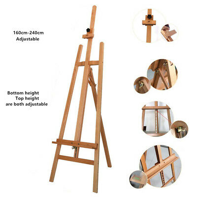 Beech Wood Easel Artist Easels Display Stand Art Painting Canvas Tripod 240cm