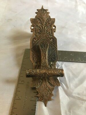 "Brass Eastlake Victorian Door Bell Antique Hardware Collectible 7"" X 2"""
